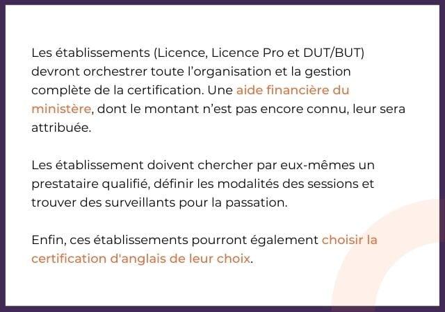 La certification obligatoire et les licences