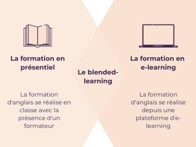 Schémas de la formation d'anglais en blended-learning